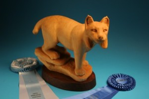 Best of Show - Third Place - Lynx, carved by Mary Chandler