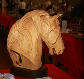Best of Show - Third Place - Horse head, carved by Mary Chandler