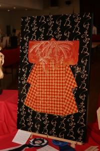 Chip-carved kimono by Diana Kwan