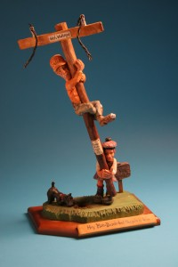 Caricature lineman and caber-tosser by Nelson Krouse